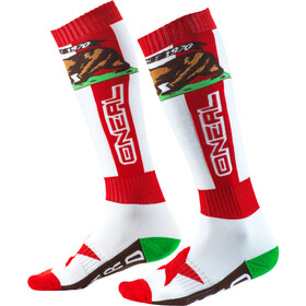 O'Neal Pro MX Calcetines, rojo/blanco